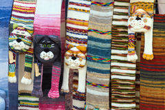 Scarves, like a cat's head Stock Images