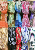 Scarves in a market Stock Photography