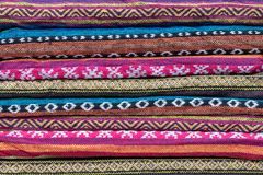 Scarves modelados coloridos dobrados fotos de stock royalty free