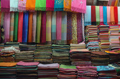 Scarves for sale Stock Photo
