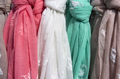Scarves for sale. Royalty Free Stock Images