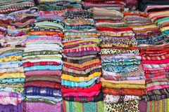 Scarves and shawls Royalty Free Stock Images