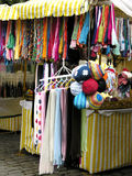 Scarves tent. Scarves for sale in Teresopolis royalty free stock images