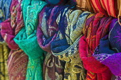 Scarves of various colors Royalty Free Stock Photos