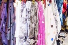 Scarves in Venice Stock Image