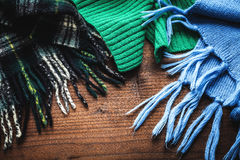 Scarves for the winter Stock Photos