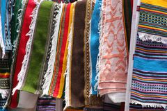 Scarves woven in the City of Lailbella, Ethiopia Royalty Free Stock Photography