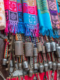 Scarves and Yak Bells, Nepal Royalty Free Stock Images