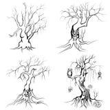 Scary δέντρο αποκριών Στοκ εικόνες με δικαίωμα ελεύθερης χρήσης