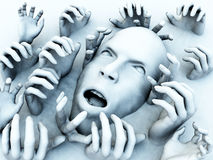 Scary κεφάλι απεικόνιση αποθεμάτων