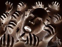 Scary κεφάλι 45 Στοκ Εικόνα
