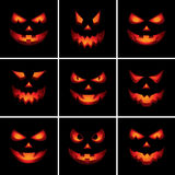 Scary πρόσωπα O'Lantern γρύλων Στοκ εικόνες με δικαίωμα ελεύθερης χρήσης