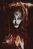 scary τρίτη γυναίκα πορτρέτου μ&e ελεύθερη απεικόνιση δικαιώματος