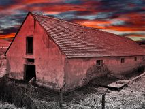 Scary abandoned house Stock Image