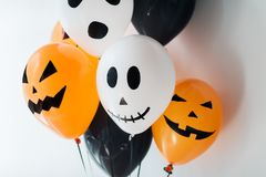 Free Scary Air Balloons Decoration For Halloween Party Stock Images - 100361084