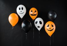 Free Scary Air Balloons Decoration For Halloween Party Stock Image - 100783371