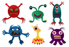 Scary Alien. A set of scary alien illustration vector illustration