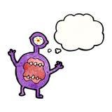 scary alien cartoon Royalty Free Stock Photography