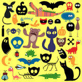 Scary animals set Royalty Free Stock Images