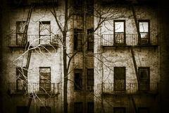 Scary Apartment Building Royalty Free Stock Image