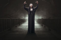 Free Scary Asian Woman Devil Nun Stock Images - 97508974