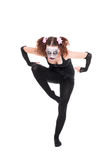 Scary ballet dancer is posing Royalty Free Stock Photos