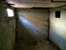 Scary Basement of abandoned building Royalty Free Stock Photos