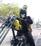 Scary biker Royalty Free Stock Photos