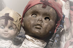 Scary black doll face royalty free stock images