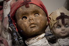 Scary black doll face royalty free stock image