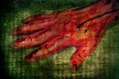 Scary bloody hand Stock Photos