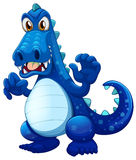 A scary blue crocodile Royalty Free Stock Photos