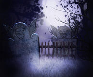 Dark Graveyard Background Stock Photo