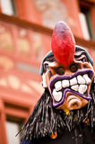 Scary Carnival Mask. A scary looking traditional mask at the carnival parade in Basel, Switzerland royalty free stock image