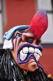 Scary Carnival Mask. A scary looking traditional mask at the carnival parade in Basel, Switzerland stock photos