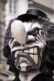 Scary Carnival Mask. A scary looking traditional mask at the carnival parade in Basel, Switzerland stock photography