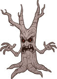 Scary cartoon tree Royalty Free Stock Photography