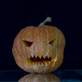 Scary the carved pumpkins for Halloween. Stock Images