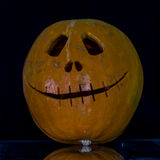 Scary the carved pumpkins for Halloween. Royalty Free Stock Photography