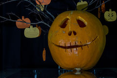 Scary the carved pumpkins for Halloween. Stock Image