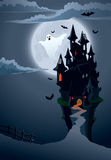 Scary castle. Halloween scary castle, perfect illustration for Halloween holiday vector illustration