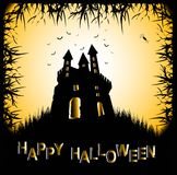 Scary castle for halloween Royalty Free Stock Image