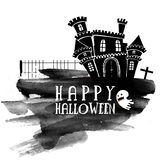 Scary Castle for Happy Halloween celebration. Stock Images