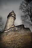 Scary castle tower Stock Images