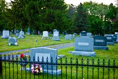 Scary cemetery Royalty Free Stock Image
