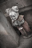 Scary cemetery statue Stock Photos