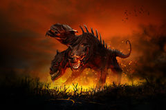 Scary Cerberus Royalty Free Stock Photography