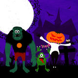 Scary characters for Halloween Party celebration. Stock Images