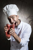 Scary chef Stock Photos