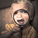 Scary child Royalty Free Stock Images